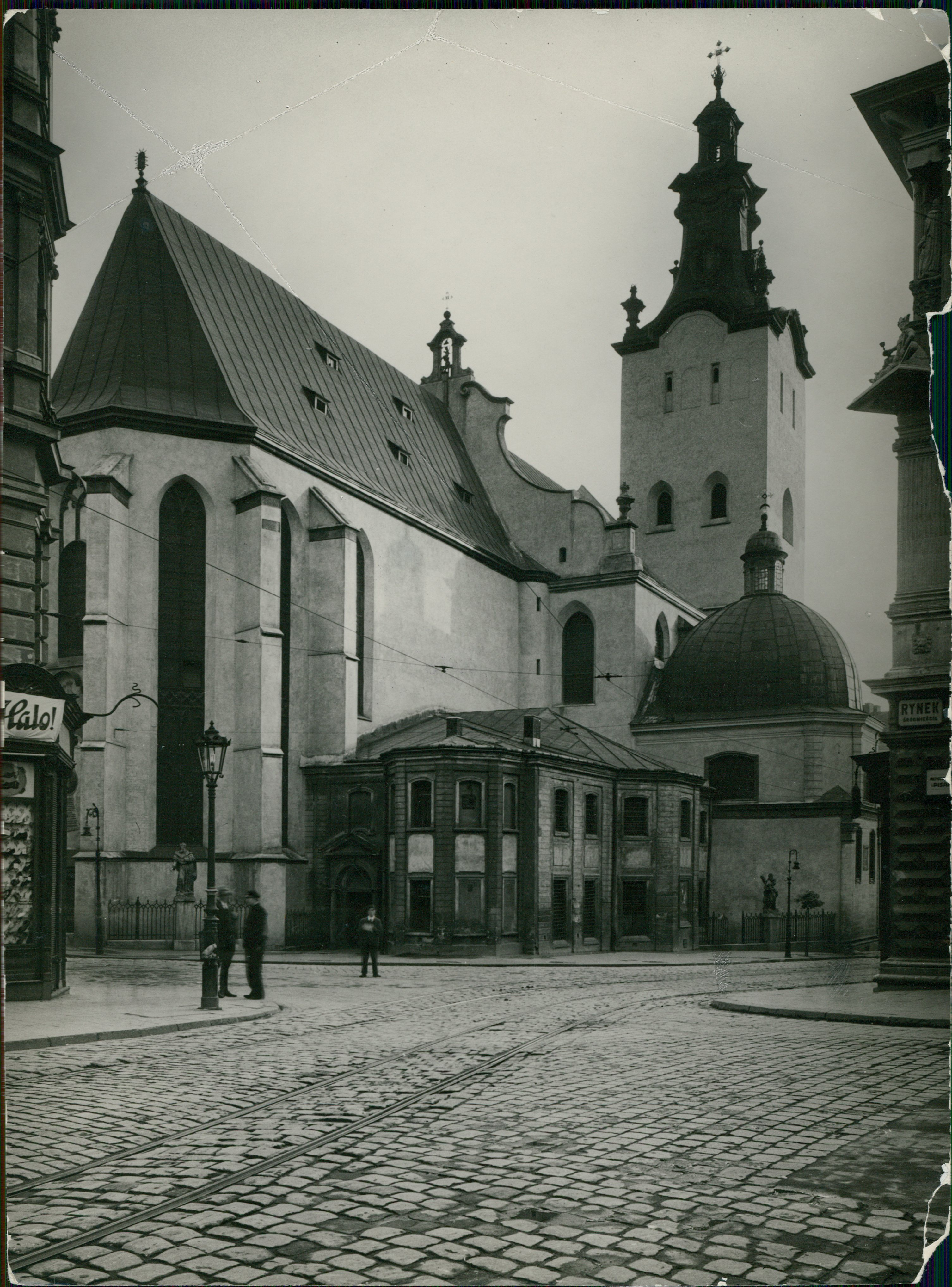 Roman Catholic Cathedral by the central Rynok square
