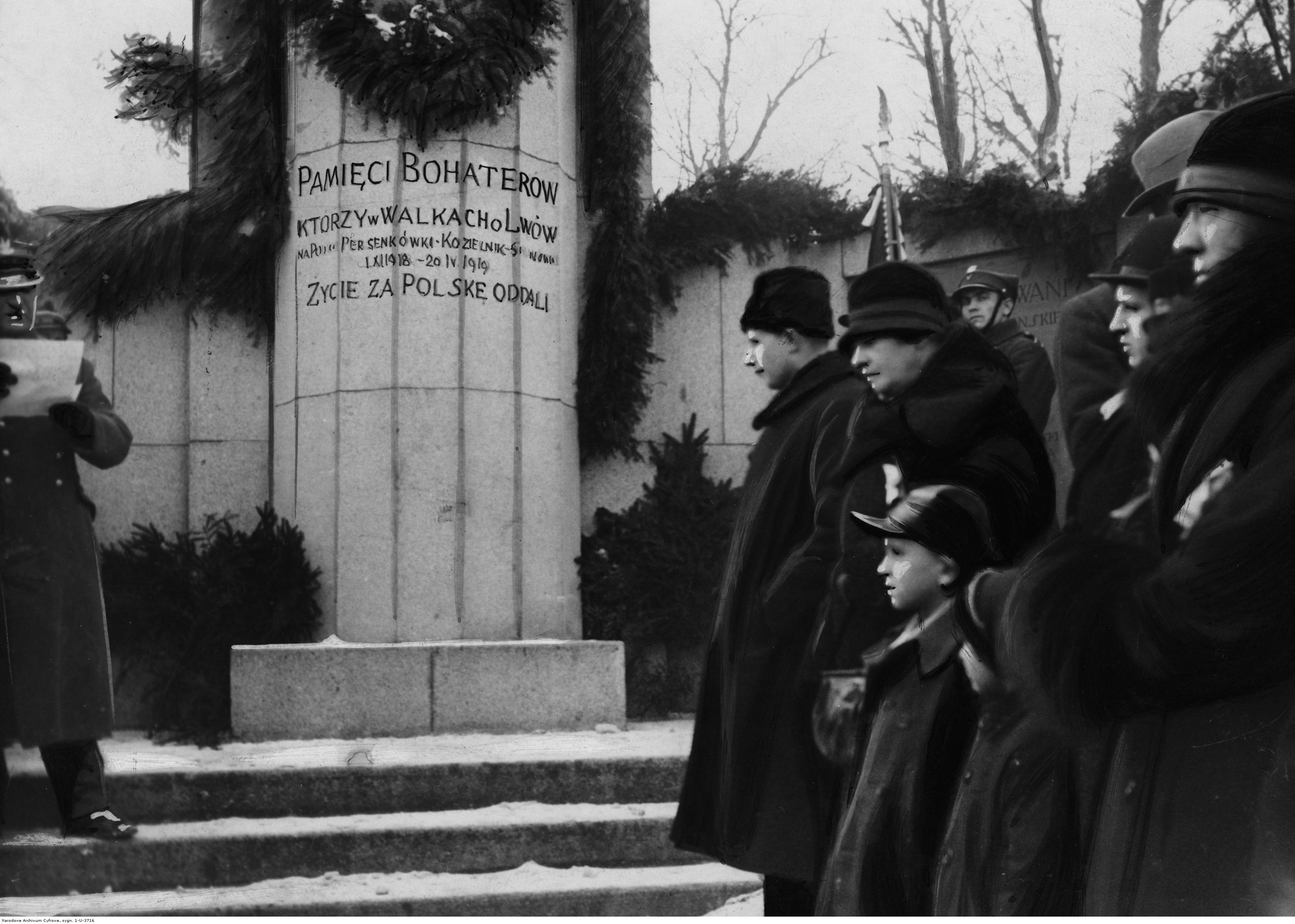 Відкриття монументу загиблим полякам у боротьбі за Персенківку. Джерело: Narodowe Archiwum Cyfrowe