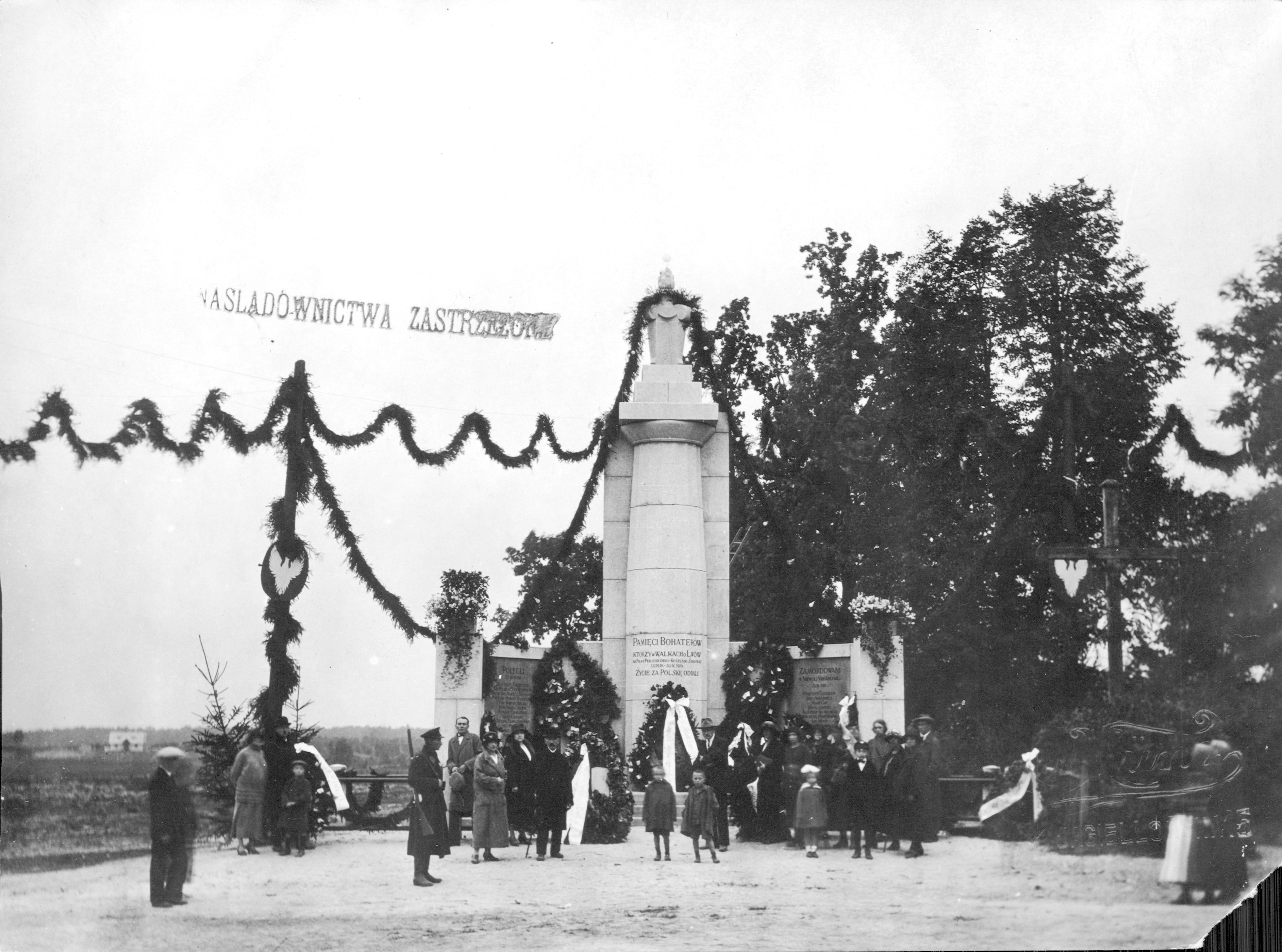 "Opening of the Monument to the ""Defenders of Lviv"" on Persenkówka"