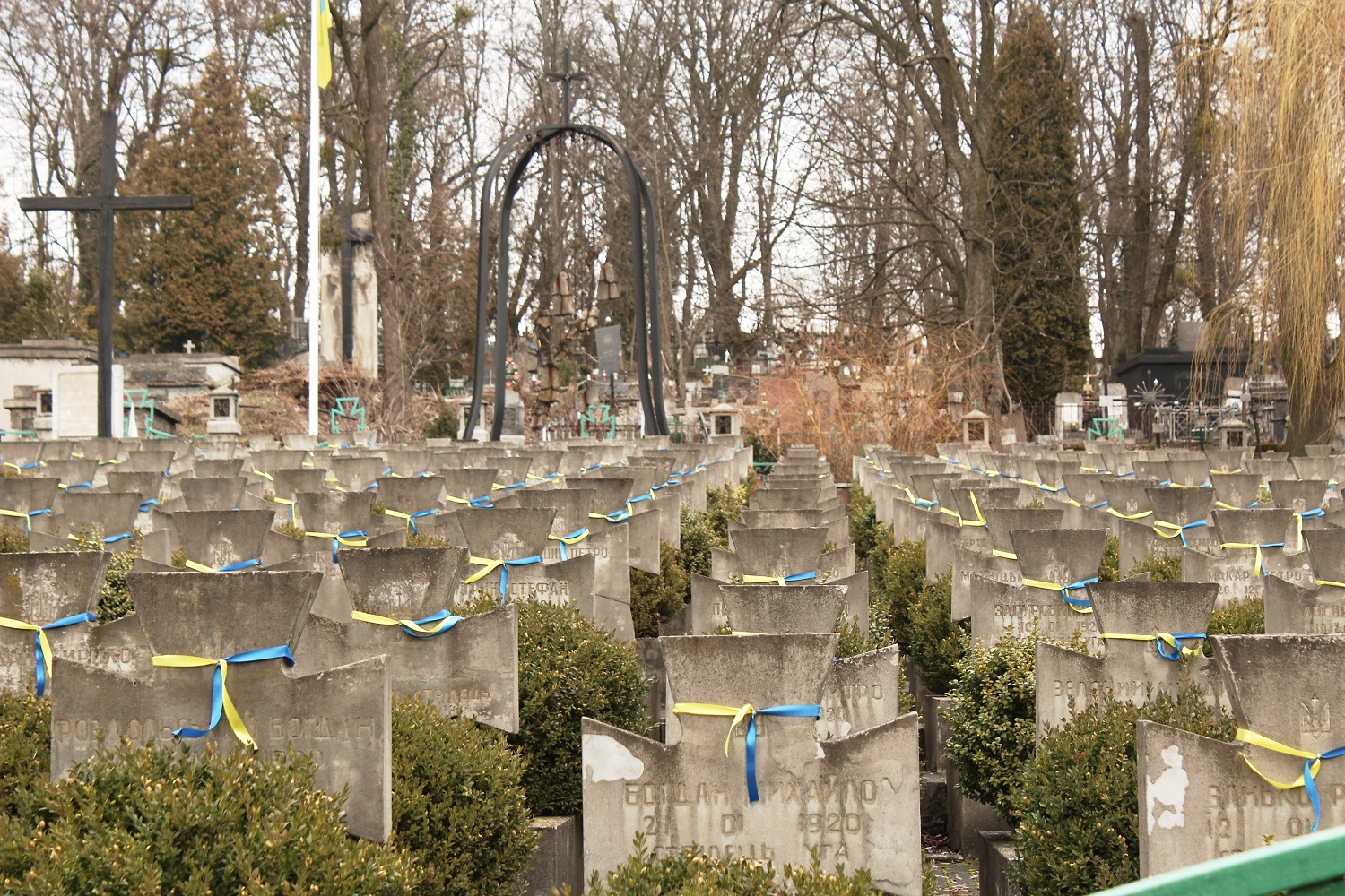 Yanivskyi cemetery, a restored field where Ukrainian Galician Army soldiers had been buried.