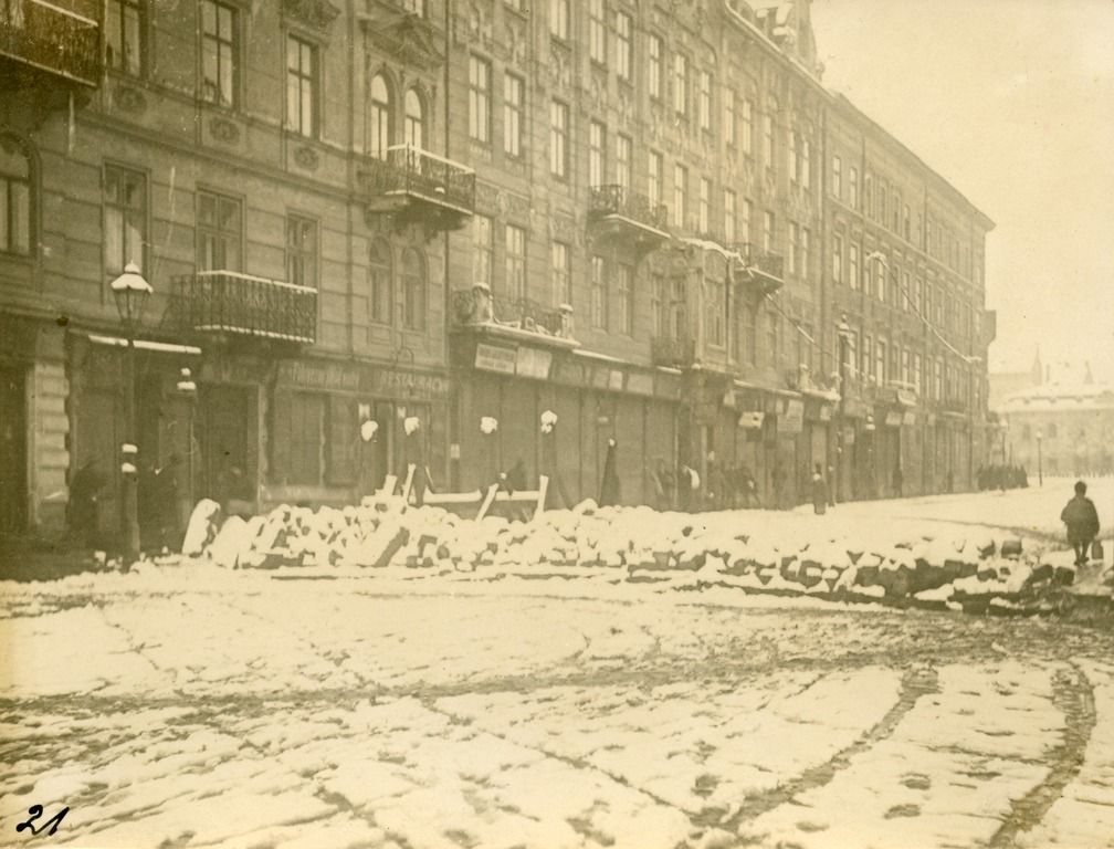 Barricade on present-day Horodotska street