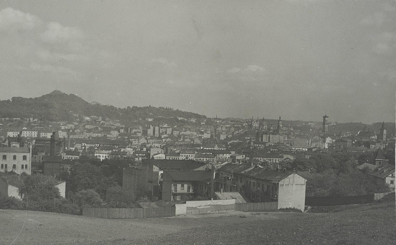 Widok na miasto z Góry Stracenia, 1920-lata.