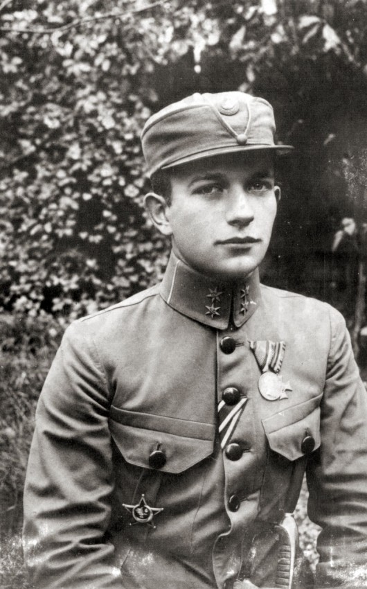 Sich Rifleman Captain Osyp Bukshovanyi. Photo taken during WWI.