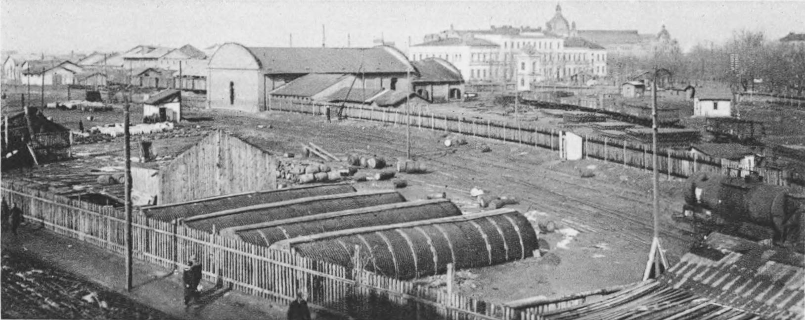 Stan dworca po wybuchu składów amunicji. Źródło: Semper Fidelis, 1930, tabl. 44