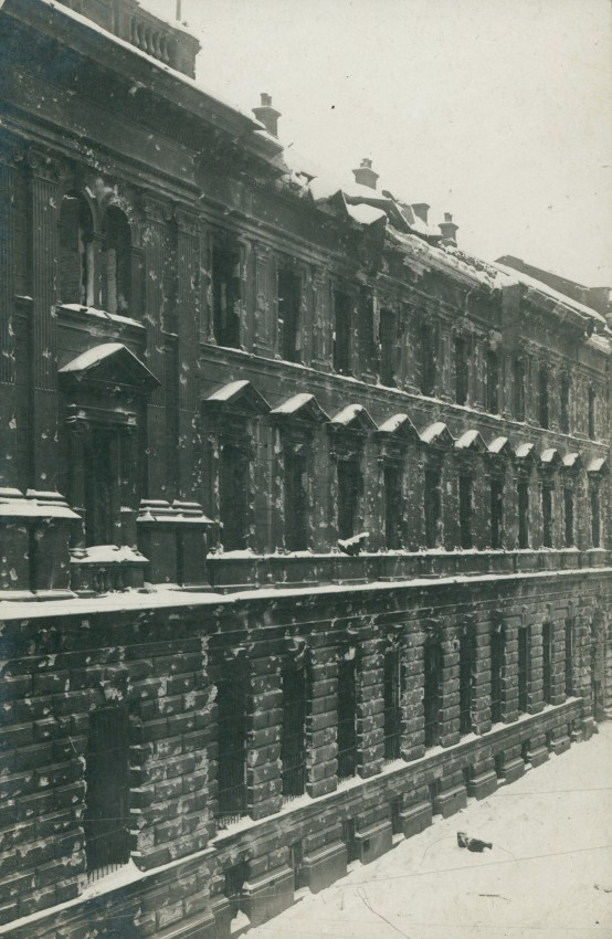 Main Post Office building after the war destruction